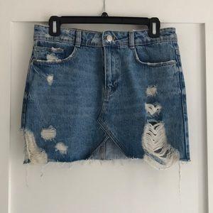 Zara denim mini skirt S